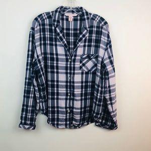 Victoria's Secret | plaid Pjs shirt sz S